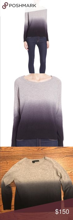360 Cashmere Ombre Sweater 360 Cashmere Ombré Sweater in grey and black. Size Small. True to size, slightly fitted. Like new condition, only worn once! 100% cashmere. 360 Cashmere Sweaters