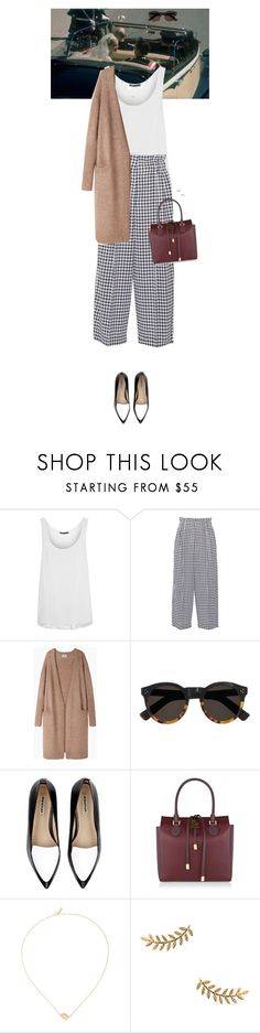 """""""Outfit of the Day"""" by wizmurphy ❤ liked on Polyvore featuring Vince, Sonia Rykiel, Acne Studios, Illesteva, Whistles, Michael Kors, Efva Attling, Gorjana, ootd and gingham"""