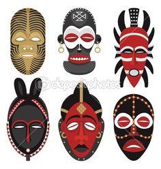 máscaras africanas 2 — Ilustración de stock #6493807
