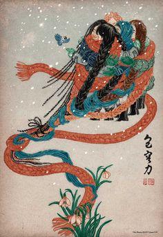 Yuko Shimizu - Award winning Japanese illustrator based in New York City and instructor at School of Visual Arts. Yuko Shimizu, Mediums Of Art, School Of Visual Arts, Political Art, Exhibition Poster, Magazine Art, New Artists, Drawing People, Asian Art