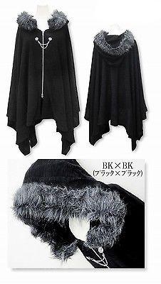 Harajuku Gothic Lolita Vampire Cloak Coat Hoodie Punk Jacket Shawl Cool Black #Q