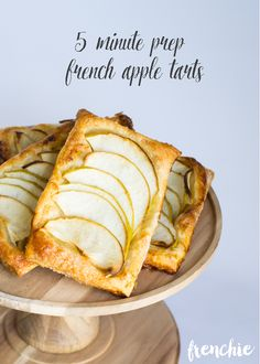 5 minute prep French Apple Tart made with premade puff pastry. Such a delicious and easy dessert recipe found on frenchiewraps.com using a Samsung Galaxy Avant and Walmart Family Mobile #MyDataMyWay #ad