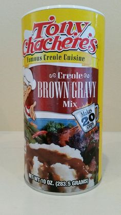 TONY CHACHERE'S INSTANT CREOLE BROWN GRAVY MIX 10 OZS! FREE RECIPE #TonyChacheres