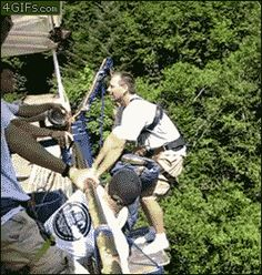 15.) I don't think this guy will ever bungee jump again.