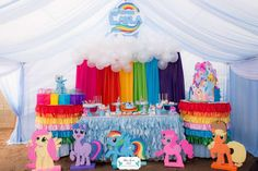 Rainbow Dash My Little Pony Birthday Party Ideas | Photo 1 of 31