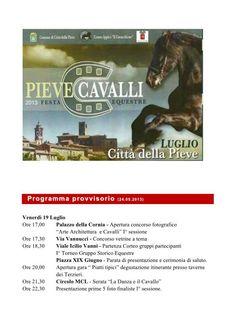 Il programma di PieveCavalli 2013: diventate i protagonisti!