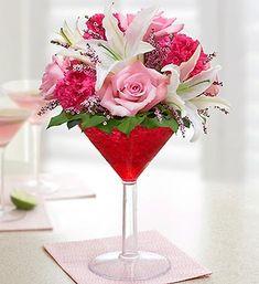 Happy Hour Floral Strawberry Margarita