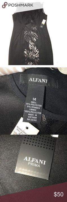 NWT Alfani Size 14 Black Cocktail Dress Brand new with tags, ✨ black dress ✨ size 14 ✨ Alfani Dresses Midi