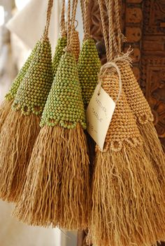 tassles for burlap roman shades