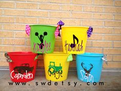Personalized Childrens Bucket  Christmas by StuartWallaceDesigns, $10.00