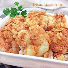 Coliflor al ajoarriero < Divina Cocina