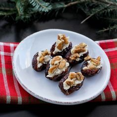 These mascarpone stuffed medjool dates are a perfect snack, and a great healthy treat to serve at your next holiday event.