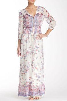 Indianese Silk Maxi Dress