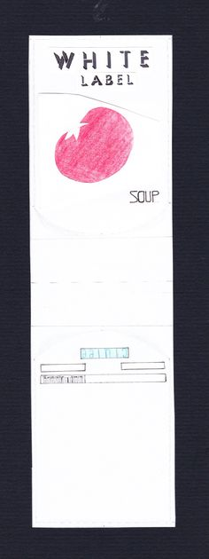 Created by Helena Clulee - economy tomato soup label