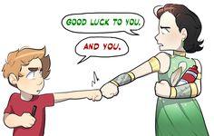 The Little Hero AU — Loki: We are like minded souls. When I rule I will...