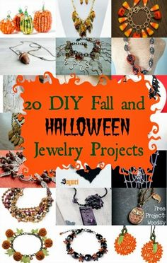 20 DIY Fall and Halloween Jewelry Projects: A round-up by My Girlish Whims