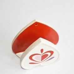 Vintage Holt-Howard heart-shaped napkin or letter by Rebekahsretro