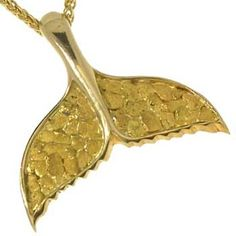 Wild alaska gold quartz whale tail pendant in yellow gold www wild alaska whale tail pendant alaskan gold nuggets goldrushfinejewelry aloadofball Images