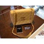 Chanel Beige Leather 2.55 Gold Chain Shoulder Flap Bag