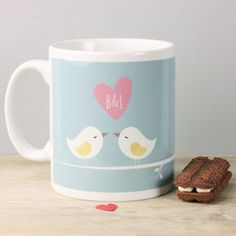 Personalised Love Birds Mug - new in home