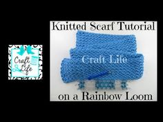(8) Craft Life Knitted Scarf Tutorial on a Rainbow Loom or a Knitting Loom - YouTube Loom Knitting For Beginners, Knitting Help, Loom Bands Tutorial, Scarf Tutorial, Crotchet Patterns, Loom Knitting Patterns, Rainbow Loom Purse, Knitting Loom Socks, Crazy Loom