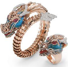 diamond dragon brooch high jewlery - Roberto Coin