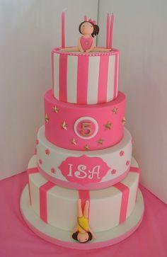 .. Gymnastics Birthday Cakes, Gymnastics Party, Birthday Cake Girls, Elite Gymnastics, 2nd Birthday, Birthday Ideas, Kid Cupcakes, Cupcake Cakes, Purple Cakes