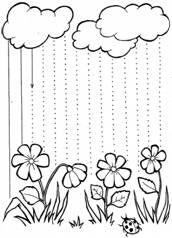 ЗАДАНИЕ №1: Проведи, не отрывая руки от бумаги, прямые линии дождя.
