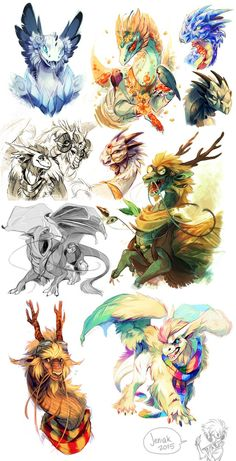 Mine and other peep's dragons on Flight Rising! someone help me this game is taking over my life