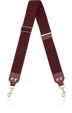 ANYA HINDMARCH Eyes Adjustable Shoulder Strap. #anyahindmarch #bags #shoulder bags #leather #cotton #