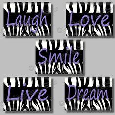 pink zebra, wall decor, dreams, room idea, quote art, prints, zebra print, zebras, girl rooms