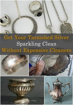 Heres the absolute easiest way to clean jewelry hacks pinterest get your tarnished silver sparkling clean without expensive cleaners solutioingenieria Gallery