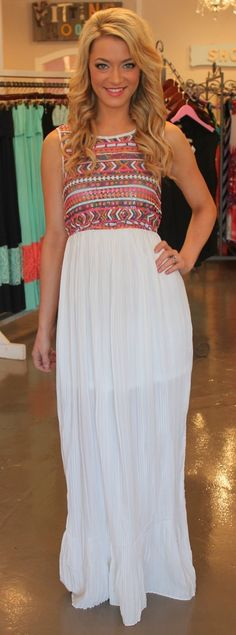 Dottie Couture Boutique - Pleated Maxi Dress-White, $56.00 (http://www.dottiecouture.com/copy-of-pleated-maxi-dress-black/)