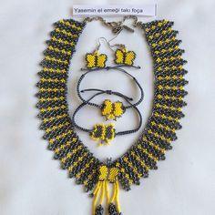 Instagram media by yasemintakifoca - Sergimize çalıştığım kolyelerden #takısergisifoça #3.8.2015 #özeltasarım #kolya #bileklik #küpe #kelebek #sarı #füma #gri #elemeği #takı #handmade #necklace #bracelet #yellow #bead #jewelry #foça