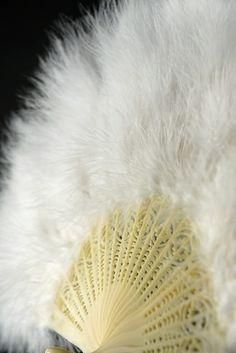 """Feather Fans White Marabou 20"""""""