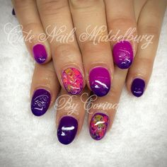 Cute short thermo nails