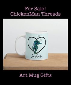Wonder what to get someone who has everything?  Every ocean lover loves this seahorse mug!  Make it something special.  XoXoXo Gifts For Him, Gifts For Women, Libra Necklace, Seahorse Art, Eagle Design, California Surf, Skate Surf, Zodiac Jewelry, Surf Style
