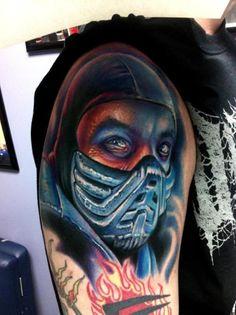 Home - Tattoo Spirit Gamer Tattoos, Traditional Sleeve, Traditional Tattoo, Home Tattoo, Tattoo You, Street Fighter, Black Tattoos, Cool Tattoos, Mortal Kombat Tattoo