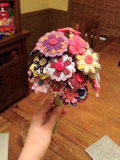 My felt flower bouquets
