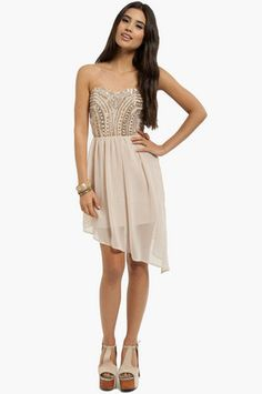 NYE ideas! Embellished Lanes Strapless Dress $58 at www.tobi.com