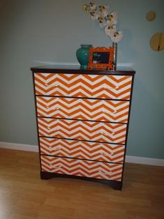 I have a blue for the body of the desk. And I have orange & white for the drawers....