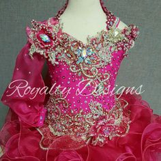 Royalty Designs Custom made pageant dresses and attire..See my websitefor ordering your fabulous new design. www.royaltydesigns.net #RoyaltyDesigns #royaltydesignspageantdresss #beautydresses #toddlersandtiaras #beautypageants #childrensbeautypageants #glitzy #andreamclaws Glitz Pageant Dresses, Pageant Hair, Beauty Pageant, Toddlers And Tiaras, Pageants, Little Girl Hairstyles, Girl Outfits, Daughter, Formal Dresses