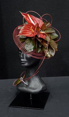 Hair piece - 1st place ~ Pam Bell - Papakura Floral Art Group