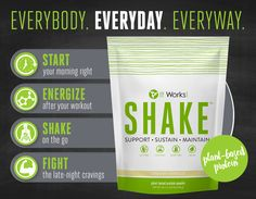 Your body needs protein EveryDAY! And any time is a good time to grab your It Works! Shake!  ✅ In the morning ✅ After your workout ✅ On-the-go ✅ For late-night cravings