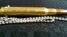 Check out this item in my Etsy shop https://www.etsy.com/listing/206008586/30-06-personalized-bullet-necklace