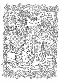 Creative Cats Adult Colouring Book I Marjorie Sarnat Animal Coloring Pages To Print
