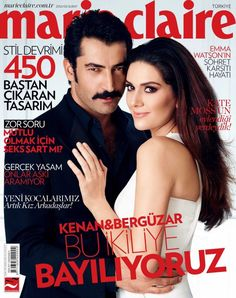 Kenan Imirzalioglu, Bergüzar Korel - Marie Claire Magazine Cover [Turkey] (February 2013)