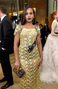 Inside the Golden Globes: Kerry Washington in Dolce & Gabbana Golden Globe Award, Golden Globes, Kerry Washington, Armani Prive, Ermanno Scervino, Christian Siriano, Red Carpet Dresses, Blake Lively, Carolina Herrera