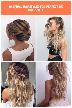 Hair beautiful hair styles 30 Bridal Hairstyles For Perfect Big Day Party Romance Movies, Bridal Hairstyles, Big Day, Dreadlocks, Hair Styles, Party, Beautiful, Meal, Romantic Movies