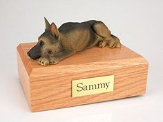 Ever My Pet German Shepherd Laying Figurine Urn Tan  Black Large ** More info could be found at the affiliate link Amazon.com on image.